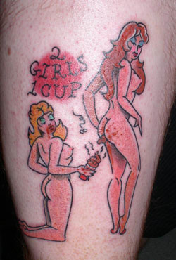 Two Girls One Cup Tattoo