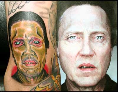 Bad Christopher Walken Tattoo