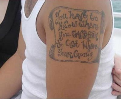 Bad spelling tattoo
