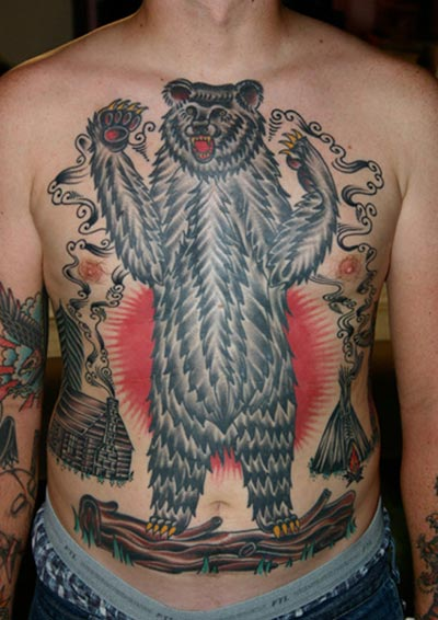 Strange Bear Tattoo