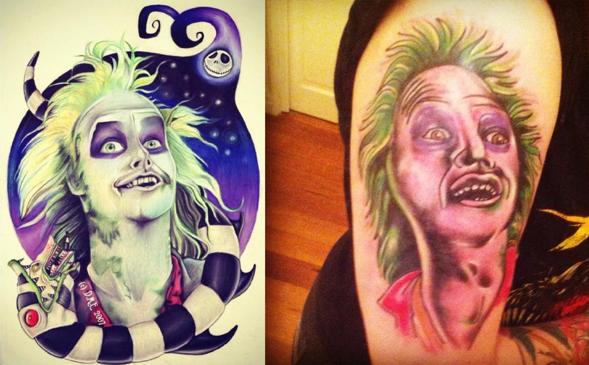 Bad Beetlejuice Tattoo