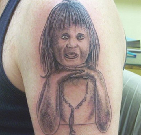 Bad Child Portrait Tattoo