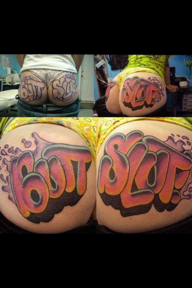 Butt Slut Tattoo