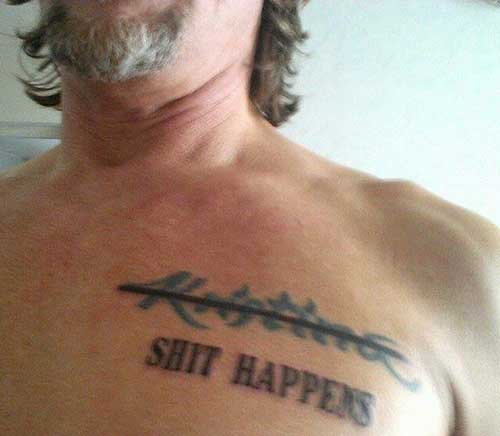shit happens tattoo