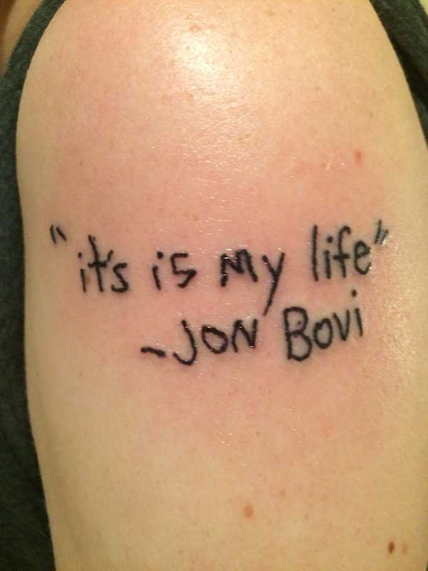 bon jovi tattoo